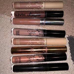 6 Kylie lip kits, a NYX lingerie, and colourpop.